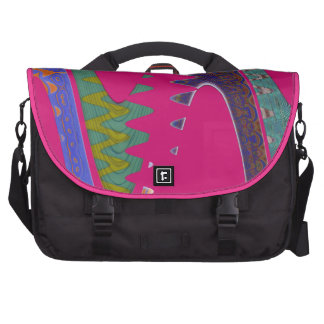 bright pink colorful abstract commuter bag