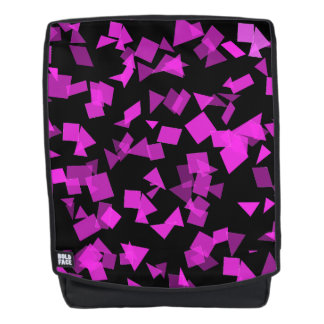 Bright Pink Confetti on Black Backpack