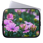 Bright Pink Daisy Flowers Computer Sleeve
