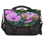 Bright Pink Daisy Flowers Laptop Commuter Bag