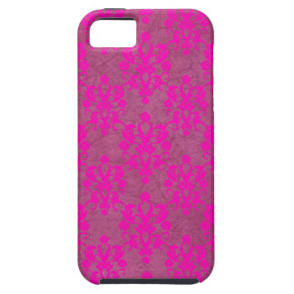 Bright Pink Damask Distressed iPhone SE/5/5s Case