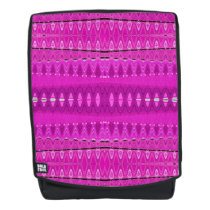 Bright Pink Diamond pattern Backpack
