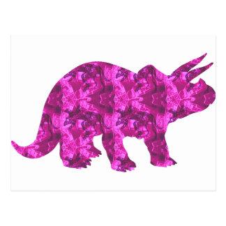 Bright Pink Dinosaur Postcard