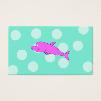 Bright Pink Dolphin. Business Card