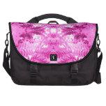 Bright Pink Fern Leaf Pattern. Bag For Laptop