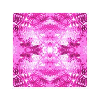 Bright Pink Fern Leaf Pattern. Canvas Print