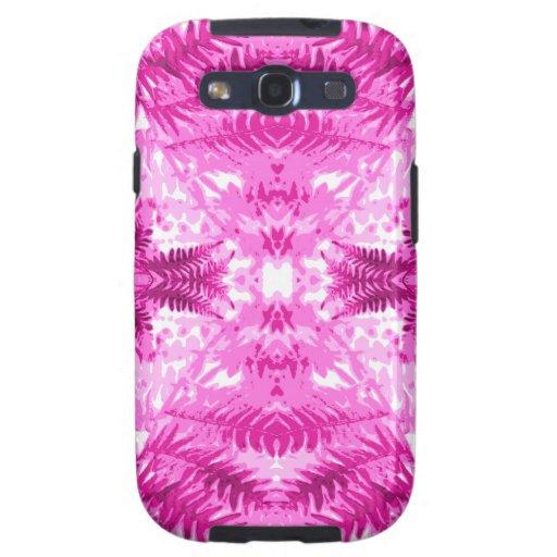 Bright Pink Fern Leaf Pattern. Samsung Galaxy SIII Covers