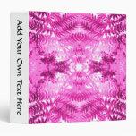 Bright Pink Fern Leaf Pattern. Vinyl Binder