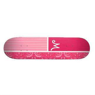 Bright Pink Floral Custom Skateboard