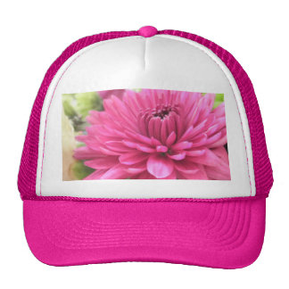 Bright Pink Flower Magenta Mum Photo Print Trucker Hat