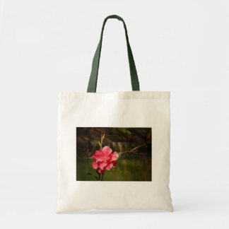 Bright Pink Flower Near Water Budget Tote Bag