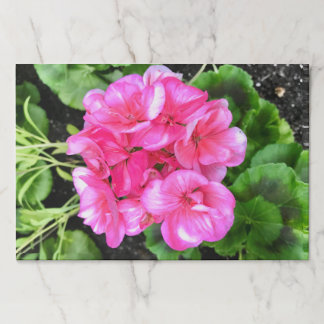 Bright Pink Flower Paper Placemat