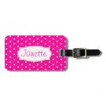 bright pink, pink, girls, ladies, luggage, tag,