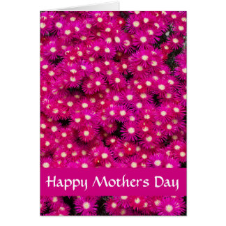 Bright pink flowers card