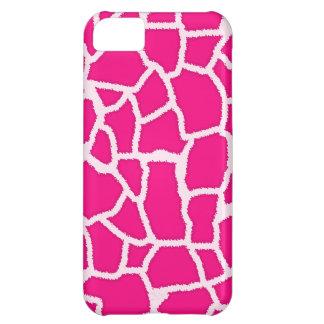 Bright Pink Giraffe Animal Print Case For iPhone 5C