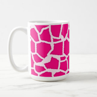 Bright Pink Giraffe Animal Print Classic White Coffee Mug