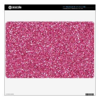 Bright Pink Glitter Sparkle Air Mac Skin MacBook Decals