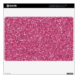 Bright Pink Glitter Sparkle Air Mac Skin Decals For MacBook