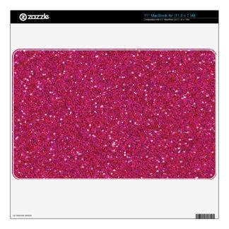 Bright Pink Glitter Sparkle Mac Air Skin MacBook Air Skin
