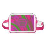 Bright Pink Green Color Swish Waist Bag