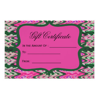 Bright Pink Green Gift Certificate Flyer