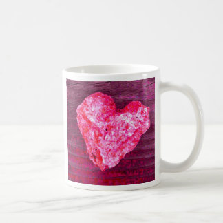 Bright Pink Heart Rock Coffee Mug