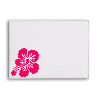 Bright Pink Hibiscus Envelope