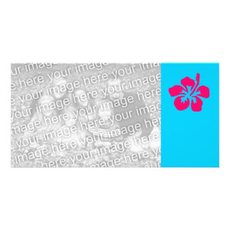 Bright Pink Hibiscus Photo Card