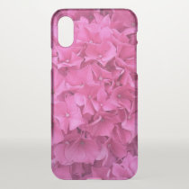 Bright Pink Hydrangea iPhone X Case