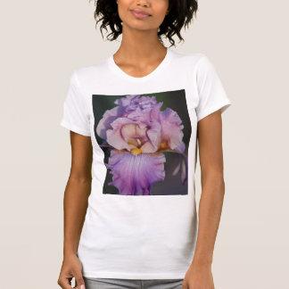 Bright Pink Iris on Pink Ladies Casual Scoop T-Shirt