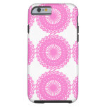 Bright Pink Lace Pattern Design. Tough iPhone 6 Case