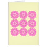 Bright Pink Lace Pattern Design. Greeting Card