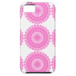 Bright Pink Lace Pattern Design. iPhone 5 Cases