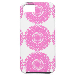 Bright Pink Lace Pattern Design. iPhone SE/5/5s Case