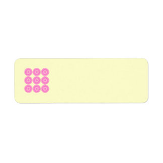 Bright Pink Lace Pattern Design. Label