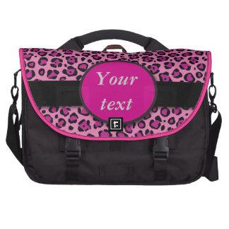 Bright Pink Leopard Skin Products Laptop Messenger Bag