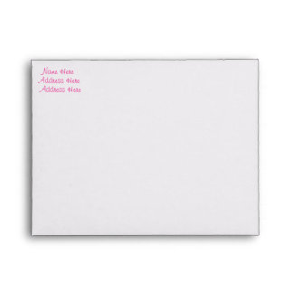 Bright Pink Lined Envelope