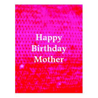 Bright Pink Mother Birthday Postcard