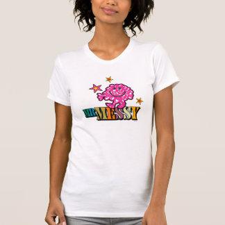 Bright Pink Mr. Messy | Sparkling Stars T-Shirt