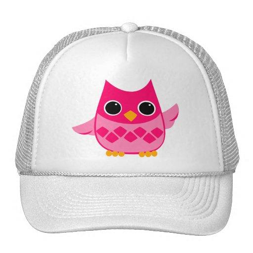 Bright Pink Owl Trucker Hat