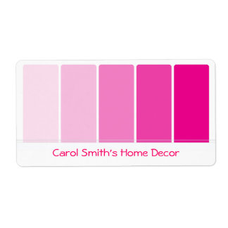 Bright Pink Paint Samples Label
