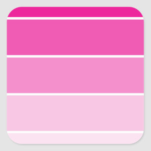 Bright Pink Paint Samples Square Sticker