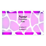 Bright Pink Pattern Business Card Templates