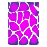 Bright Pink Pattern Greeting Card