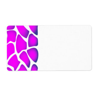 Bright Pink Pattern Label