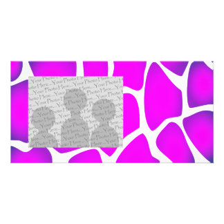 Bright Pink Pattern Personalized Photo Card
