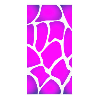 Bright Pink Pattern Photo Cards