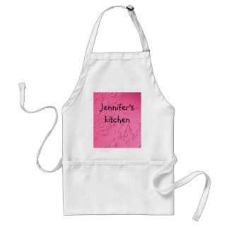 Bright Pink personalized name or initials Adult Apron