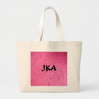Bright Pink personalized name or initials Large Tote Bag