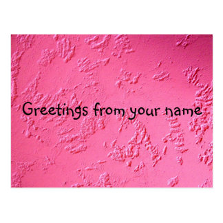 Bright Pink personalized name or initials Postcard